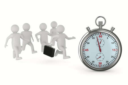 delay: leadership concept on white background. Isolated 3D image