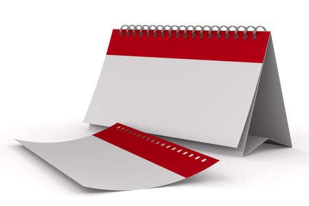 Calendar on white background. Isolated 3D image photo