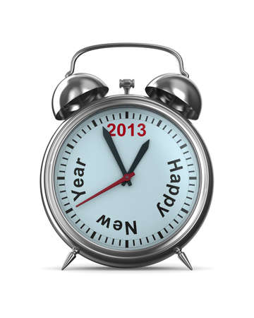 2013 year on alarm clock  Isolated 3D image photo