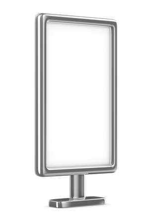 billboard on white background. Isolated 3D image Stock Photo - 15659844