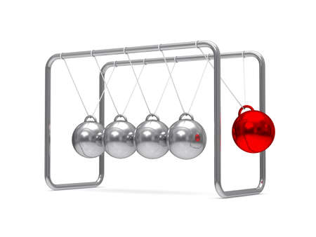 Balancing balls on white background. Isolated 3D image Stock Photo - 16030549