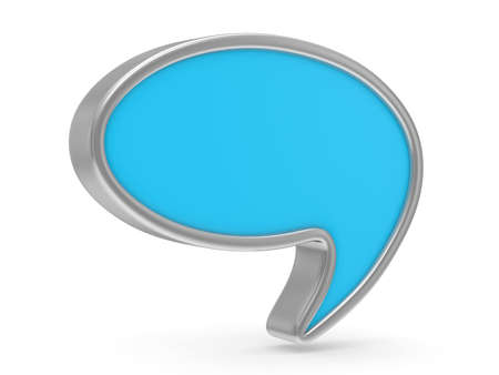 talk balloon on white background. Isolated 3D image Stock Photo - 16030566