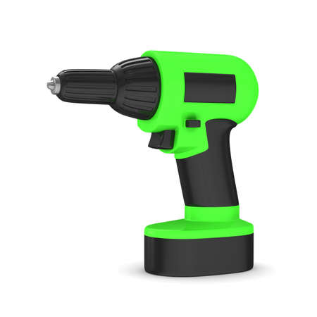 Drill on white background. Isolated 3D image Stock Photo - 16230721