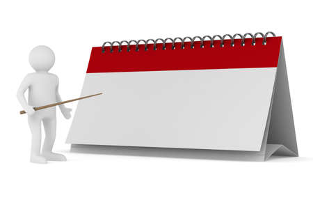 today: Calendar on white background. Isolated 3D image Stock Photo