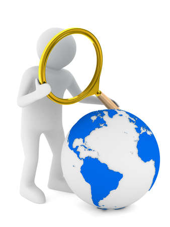 Global search. Isolated 3D image on white Stock Photo - 18089981