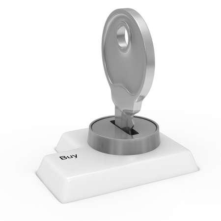 Data input blocking. Isolated 3D image on white Stock Photo - 18532653