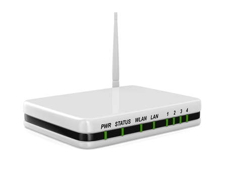 router on white background. Isolated 3D image photo
