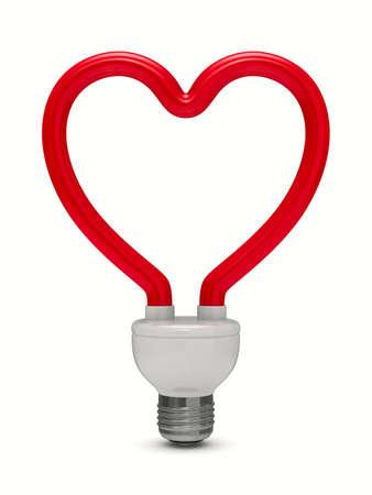 bombillo ahorrador: ahorro bombilla sobre fondo blanco. Aislado de la imagen 3D Foto de archivo