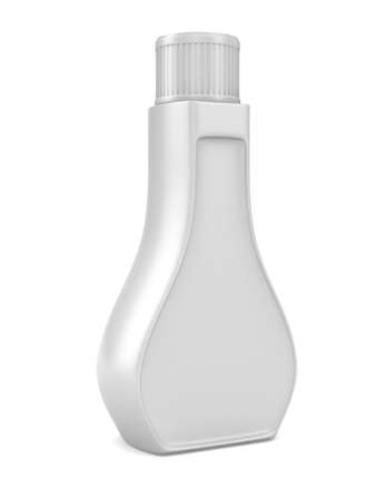 Bottle on white background. Isolated 3D image photo