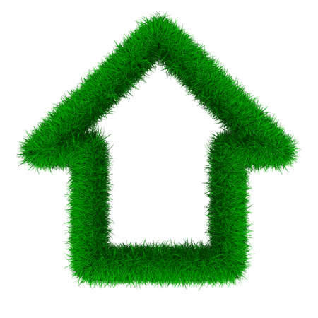 house from grass. Isolated 3D image photo