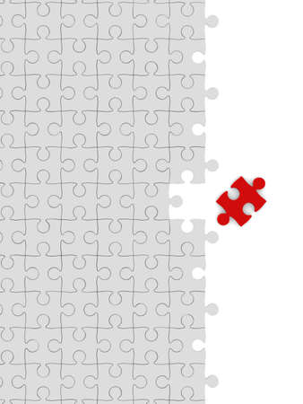 integrated groups: Puzzle on white background. Isolated 3D image