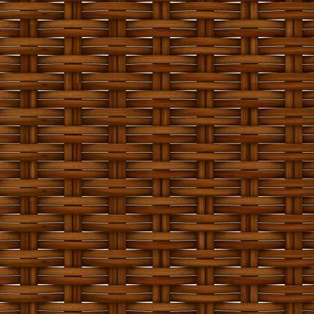 Zusammenfassung dekorativen hölzernen texturierten Korbflechterei. 3D-Bild