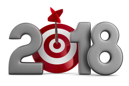 2018 new year. Isolated 3D illustration Stock Illustration - 78674571