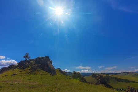 Barguzin valley. Summer landscape. Russia Stock Photo