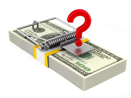 Financial risk. Isolated 3D illustration Stock fotó