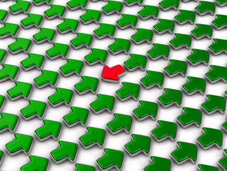 Freccia rossa che gira indietro sul fondo bianco. Illustrazione 3D isolata Archivio Fotografico - 94937222