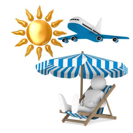 tourism on white background. Isolated 3D illustration Stock Photo