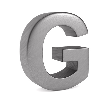 Character G on white background. Isolated 3D illustration