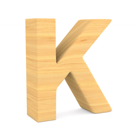 Character K on white background. Isolated 3D illustration Фото со стока
