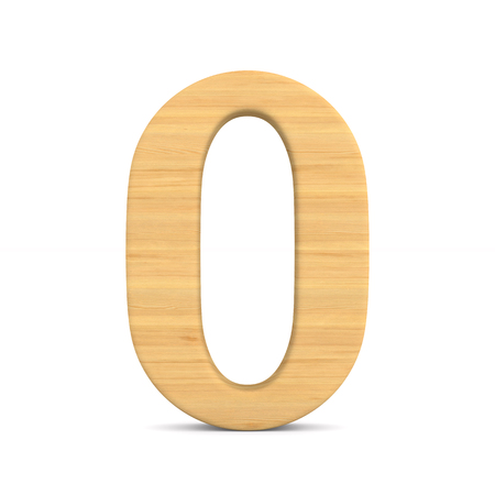 Number zero on white background. Isolated 3D illustration Stock Photo