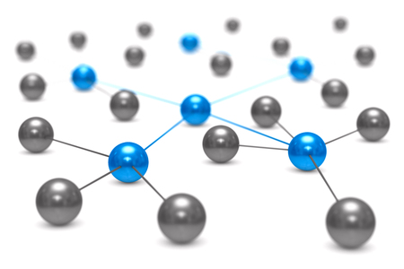 Concept network on white background. Isolated 3D illustration Stock Photo