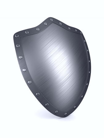 shield on white background. Isolated 3D illustration.