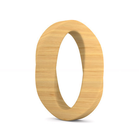 Number zero on white background. Isolated 3D illustration Stock Photo