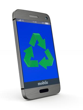 phone on white background. Isolated 3D illustration Stock fotó
