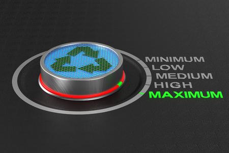button on dark background. 3D illustration Banco de Imagens