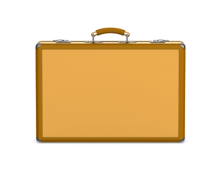 closed travel bag on white background. Isolated 3D illustration