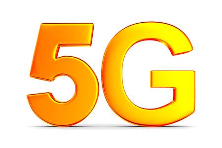 5g network on white background. Isolated 3D illustration