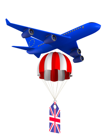 Concept brexit on white background. Isolated 3D illustration