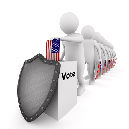 voting on white background. Isolated 3D illustration