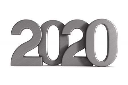 2020 new year. Isolated 3D illustration