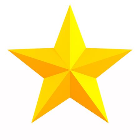 star on white background. Isolated 3D illustration
