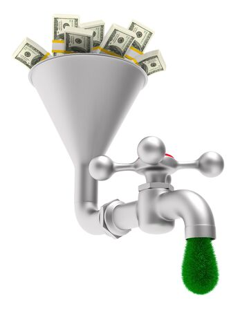 faucet on white background. Isolated 3D illustration Banco de Imagens