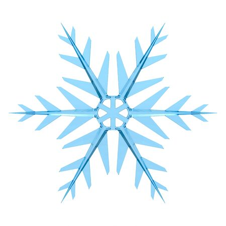 snowflake on white background. Isolated 3D illustration Stockfoto