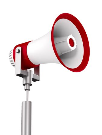 megaphone on white background. Isolated 3D illustration