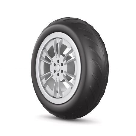 wheel on white background. Isolated 3D illustration