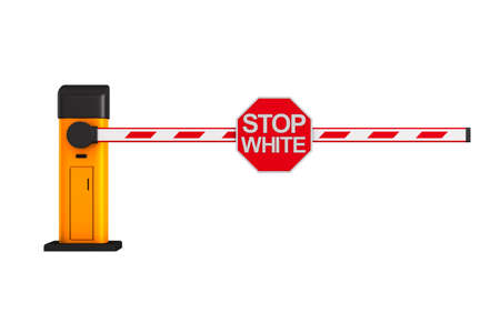 sign stop white on white background. Isolated 3D illustration
