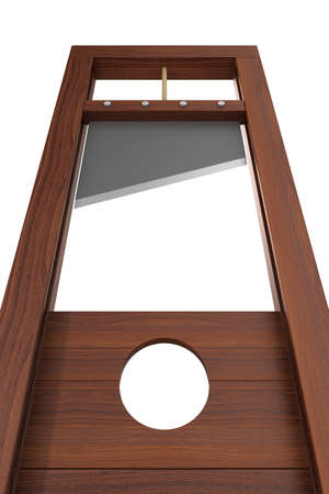 guillotine on white background. Isolated 3d illustration