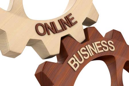 business online on white background. Isolated 3d illustration 版權商用圖片