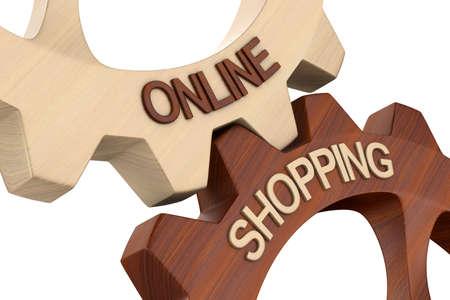 Online shopping on white background. Isolated 3D illustration 版權商用圖片