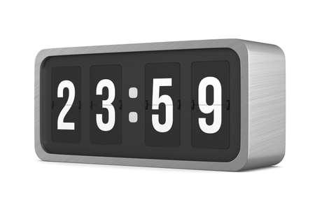 Flip black scoreboard number. 3D illustration 版權商用圖片