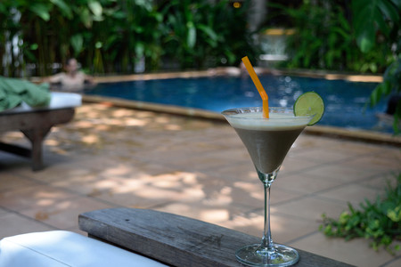 laid back: Cocktail By The Pool