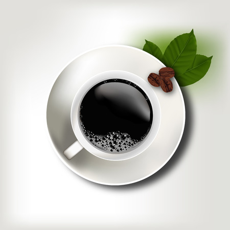 cofee cup: Coffee cup and Beans Illustration