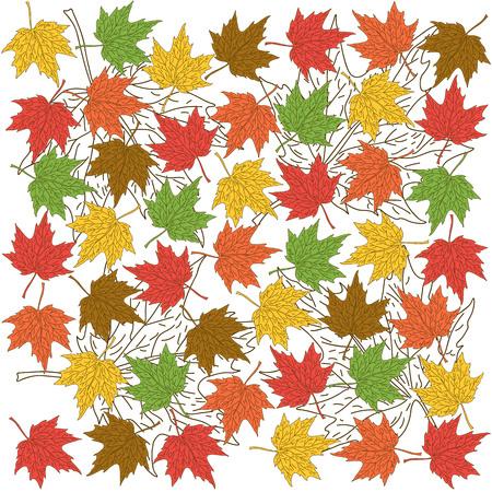 autumn background: Autumn foliage background Illustration