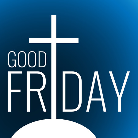 Card to Good Friday with write cross on dark blue background