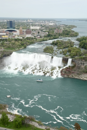 The view of the Falls. Niagara Falls, Ontario, Canada