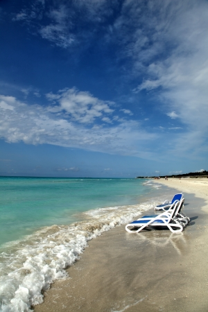 View of the tropical beach. Varadero, Cuba